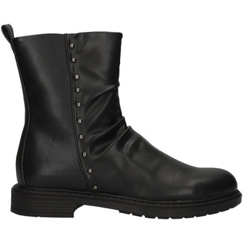 Chaussures Fille Bottines Asso AG-3405 NOIR
