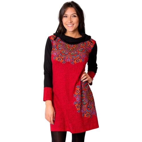 Vêtements Femme Robes Coton Du Monde Robe WINONA Rouge