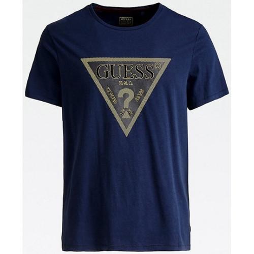 Vêtements Homme T-shirts manches courtes Guess T-Shirt Homme Anonymous M94I79 Bleu Bleu