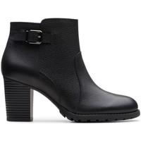 Chaussures Femme Bottines Clarks VERONA GLEAM Noir