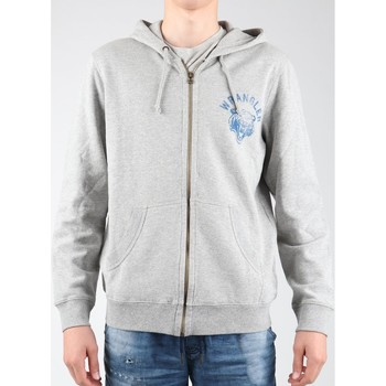 Vêtements Homme Polaires Wrangler Hoodie Zip Sweat W6497JE37 szary
