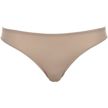 Sous-vêtements Femme Strings Lormar String microfibre et bords laser Carrie Brasiliana Beige