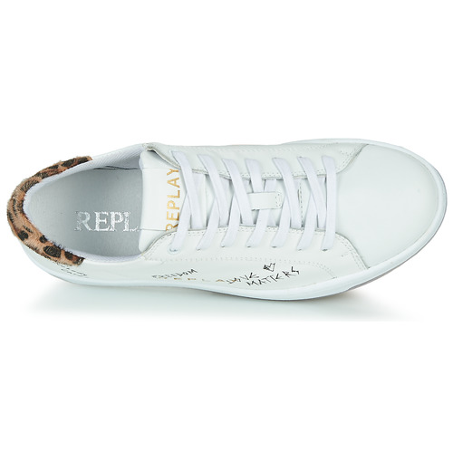 Melania Replay Baskets Basses Femme Blanc 2glPrkcq