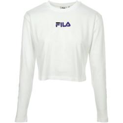 Vêtements Femme Polos manches longues Fila Reva Cropped T-Shirt blanc