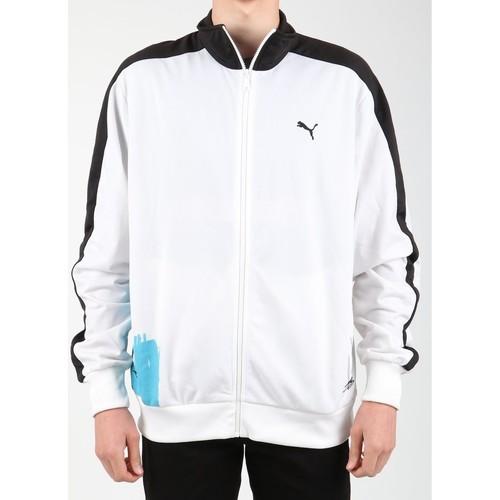 Vêtements Homme Polaires Puma Scribble T7 556947-01 biały, niebieski