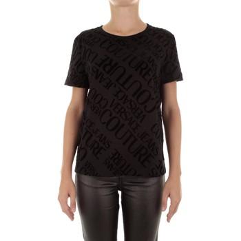 Vêtements Femme T-shirts manches courtes Versace B2HUB728 Noir