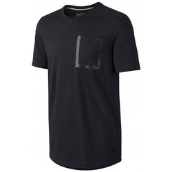 Vêtements Homme T-shirts & Polos Nike Tee-shirt  Bonded Pocket Top - Ref. 641722-010 Noir