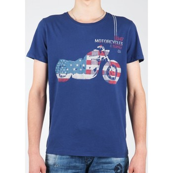 Vêtements Homme T-shirts manches courtes Wrangler S/S Biker Flag Tee W7A53FK 1F granatowy