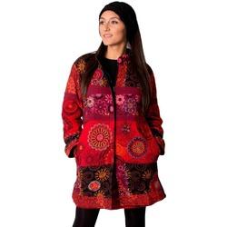 Vêtements Femme Manteaux Coton Du Monde Manteau KWANGO Rouge