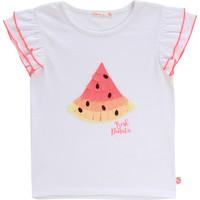 Vêtements Fille T-shirts manches courtes Billieblush / Billybandit NARI Blanc