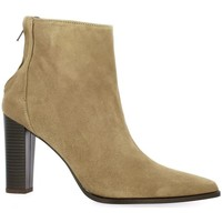 Chaussures Femme Bottines Pao Boots cuir velours Taupe