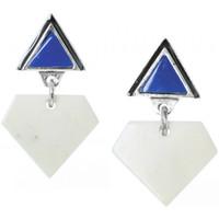 Montres & Bijoux Femme Boucles d'oreilles Franck Herval Boucles d'oreilles  collection 'Kilim' 12-61870 Bleu