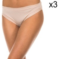 Sous-vêtements Femme Slips Janira Pack-3 Braguitas Beige
