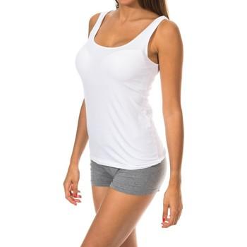 Sous-vêtements Femme Maillots de corps Janira chemise large sangles Blanc