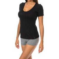 Sous-vêtements Femme Maillots de corps Janira Chemise à manches courtes Noir