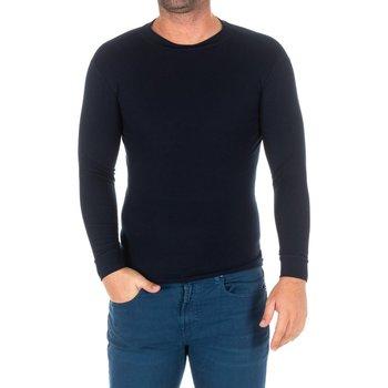 Vêtements Homme T-shirts manches longues Kisses And Love Bisous et amour T-shirt long Bleu