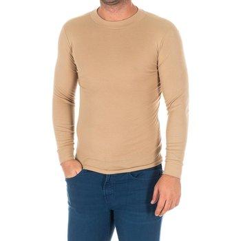 Vêtements Homme T-shirts manches longues Kisses And Love Bisous et amour T-shirt long Beige