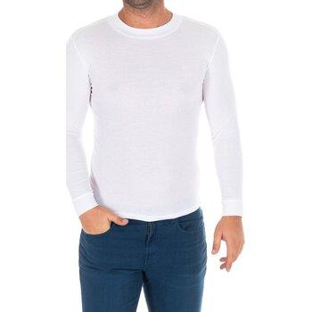 Vêtements Homme T-shirts manches longues Kisses And Love Bisous et amour T-shirt long Blanc