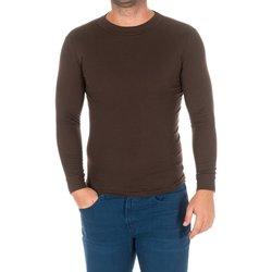 Vêtements Homme T-shirts manches longues Kisses And Love Bisous et amour T-shirt long Marron