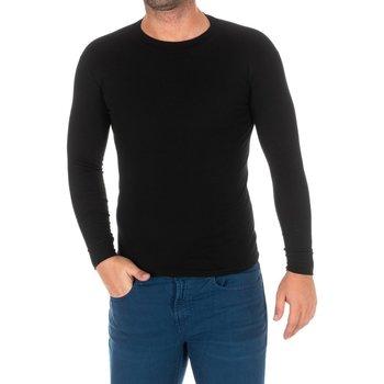 Vêtements Homme T-shirts manches longues Kisses And Love Bisous et amour T-shirt long Noir