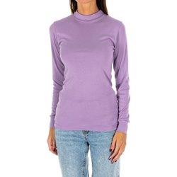 Vêtements Femme T-shirts manches longues Kisses And Love Bisous et amour T-shirt long Violet