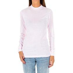 Vêtements Femme T-shirts manches longues Kisses And Love Bisous et amour T-shirt long Rose