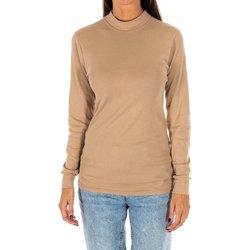 Vêtements Femme T-shirts manches longues Kisses And Love Bisous et amour T-shirt long Beige