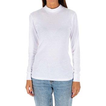 Vêtements Femme T-shirts manches longues Kisses And Love Bisous et amour T-shirt long Blanc