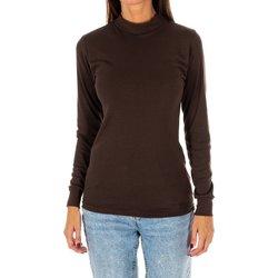 Vêtements Femme T-shirts manches longues Kisses And Love Bisous et amour T-shirt long Marron