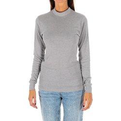 Vêtements Femme T-shirts manches longues Kisses And Love Bisous et amour T-shirt long Gris