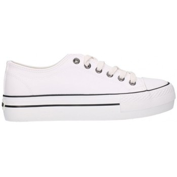Chaussures Femme Baskets basses Chika 10 CITY  UP 05 CON RAYAS NEGRAS Mujer Blanco blanc
