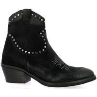 Chaussures Femme Bottines Emanuele Crasto Boots cuir velours Noir