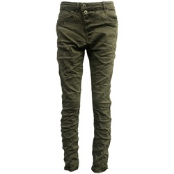 Vêtements Femme Jeans slim By La Vitrine Jeans kaki B3021-VB Vert