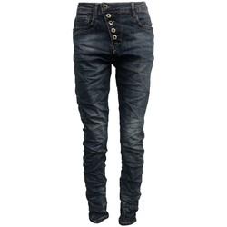 Vêtements Femme Jeans slim By La Vitrine Jeans bleu B3021-N Bleu