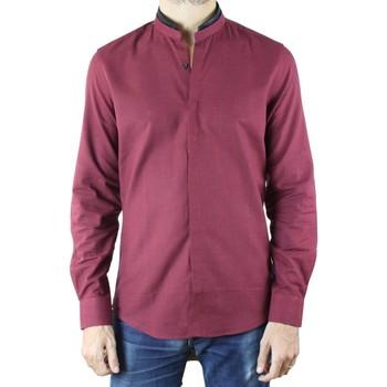 Vêtements Homme Chemises manches longues Kebello Chemise slim fit Taille : H Rouge M Rouge