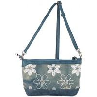 Sacs Femme Sacs Bandoulière Patrick Blanc Petit sac bandoulière  toile délavée fleur bleu bleu