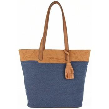 Sacs Femme Cabas / Sacs shopping Patrick Blanc Sac seau cabas  Marina grosse toile bleu bleu