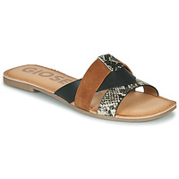 Chaussures Femme Mules Gioseppo LANTANA Noir / Cognac
