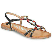 Chaussures Femme Sandales et Nu-pieds Gioseppo PARISH Noir / Rouge