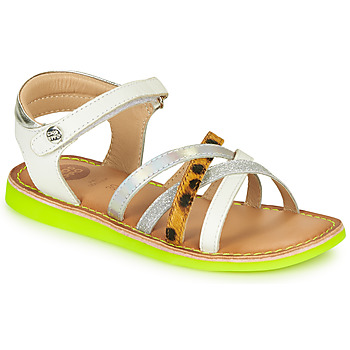 Chaussures Fille Sandales et Nu-pieds Gioseppo STAGGIA Blanc / Jaune