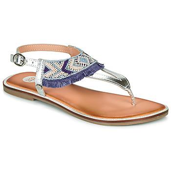 Chaussures Fille Sandales et Nu-pieds Gioseppo BERMUDAS Bleu / Blanc