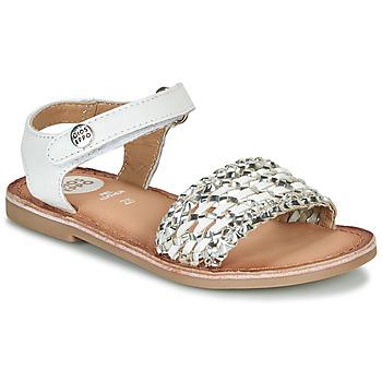 Chaussures Fille Sandales et Nu-pieds Gioseppo VIETRI Blanc / Argenté
