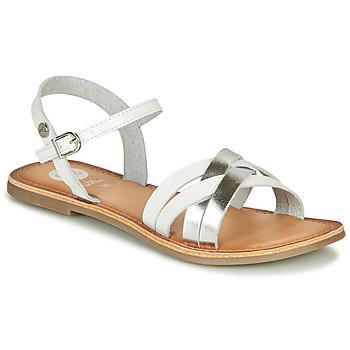 Chaussures Fille Sandales et Nu-pieds Gioseppo GISTEL Blanc / Argenté