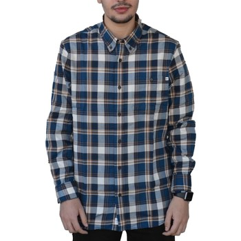 Vêtements Homme Chemises manches longues Timberland LS BRUSHED CAMICIA BLU Bleu