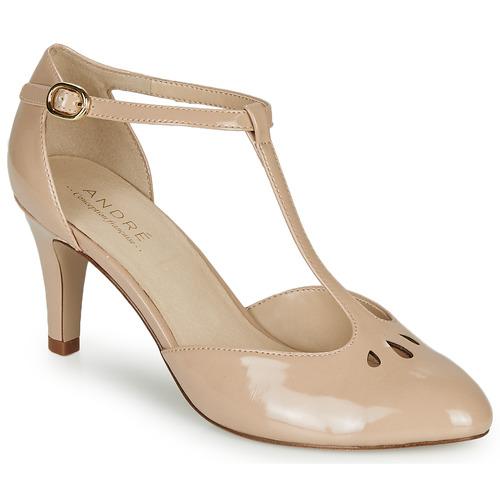 Chaussures Femme Escarpins André FALBALETTE Nude