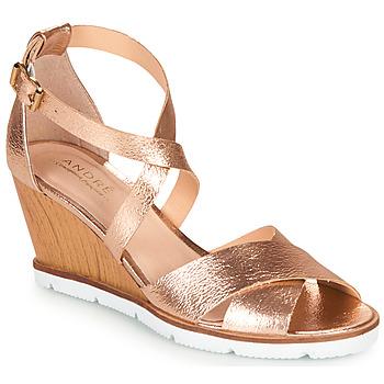 Chaussures Femme Sandales et Nu-pieds André PEONY Doré