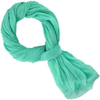 Accessoires textile Echarpes / Etoles / Foulards Allée Du Foulard Chèche coton uni - Couleur - Vert lagon Vert lagon