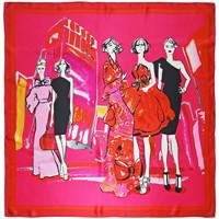Accessoires textile Femme Echarpes / Etoles / Foulards Allée Du Foulard Carré de soie Premium Modeuses Fuchsia