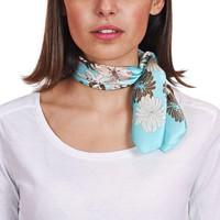 Accessoires textile Femme Echarpes / Etoles / Foulards Allée Du Foulard Carré de soie Piccolo Peonia Bleu