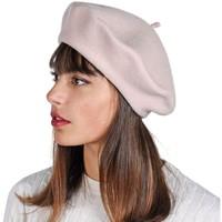 Accessoires textile Femme Bonnets Sacaly Béret Yva Crème Crème